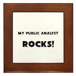 MY Public Analyst ROCKS! Framed Tile
