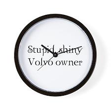 Stupid, shiny volvo owner Wall Clock