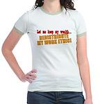 Redistribute My Work Ethic Jr. Ringer T-Shirt