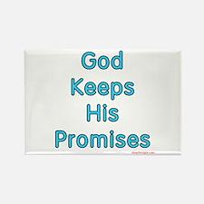Blue God Keeps His Promises Rectangle Magnet