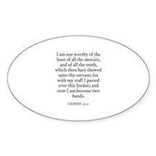 GENESIS 32:10 Oval Decal