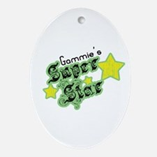 Gammie's Super Star Oval Ornament