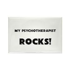 MY Psychotherapist ROCKS! Rectangle Magnet