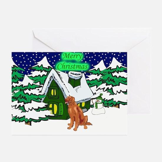 Country Chocolate Lab Christmas Greeting Cards (Pk