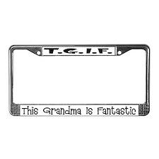 Fantastic Grandma License Plate Frame