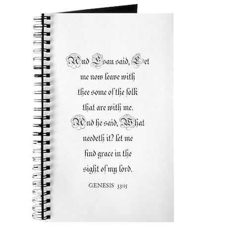 GENESIS 33:15 Journal
