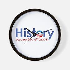 Obama History Nov 4 2008 Wall Clock