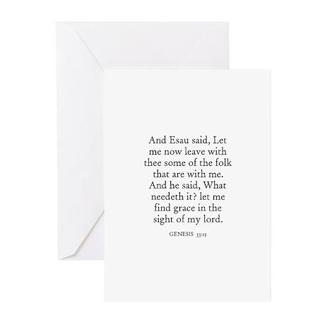 GENESIS 33:15 Greeting Cards (Pk of 10)
