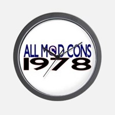 ALL MOD CONS 1978 Wall Clock