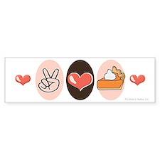 Peace Love Pumpkin Pie Bumper Bumper Sticker