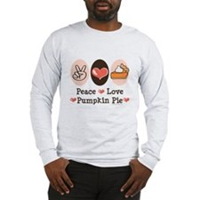 Peace Love Pumpkin Pie Long Sleeve T-Shirt