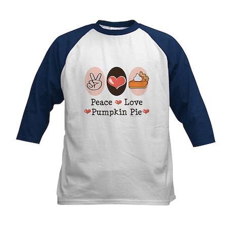 Peace Love Pumpkin Pie Kids Baseball Jersey