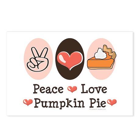 Peace Love Pumpkin Pie Postcards (Package of 8)
