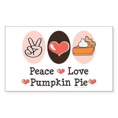 Peace Love Pumpkin Pie Rectangle Sticker