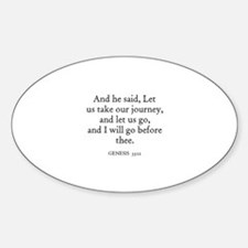 GENESIS 33:12 Oval Decal