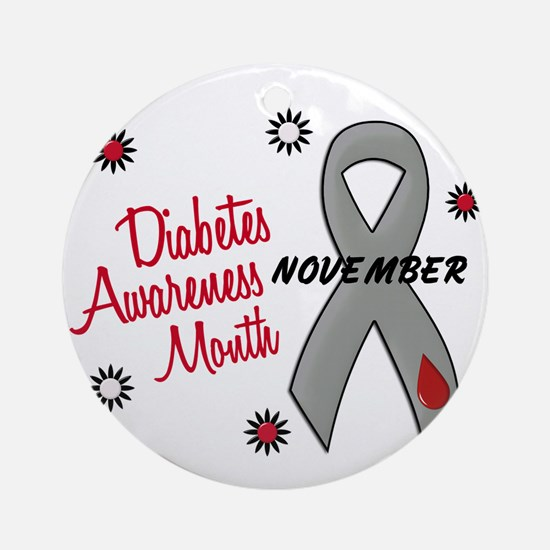 Diabetes Awareness Month 1.1 Ornament (Round)