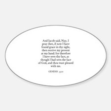 GENESIS 33:10 Oval Decal