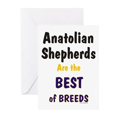 Anatolian Shepherd Best of Breeds Greeting Cards (