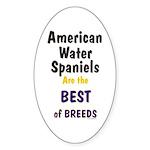 American Water Spaniel Best Breed Oval Sticker