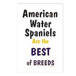 American Water Spaniel Best Breed Postcards (Packa