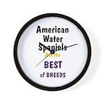 American Water Spaniel Best Breed Wall Clock
