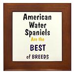 American Water Spaniel Best Breed Framed Tile