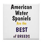 American Water Spaniel Best Breed Tile Coaster