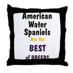 American Water Spaniel Best Breed Throw Pillow