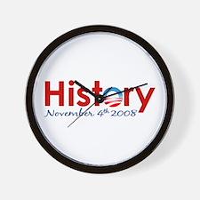 Obama Makes History Wall Clock