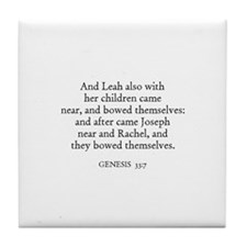 GENESIS  33:7 Tile Coaster