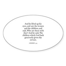 GENESIS 33:5 Oval Decal