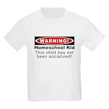 Warning! Homeschool Kid T-Shirt