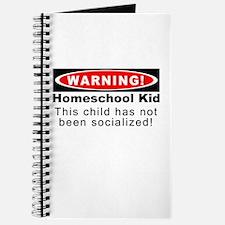 Warning! Homeschool Kid Journal