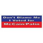 voted for McCain/Palin Bumper Sticker (50 pk)
