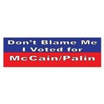 voted for McCain/Palin Bumper Sticker