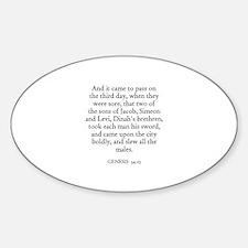 GENESIS 34:25 Oval Decal