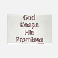 Pink God Keeps His Promises Rectangle Magnet