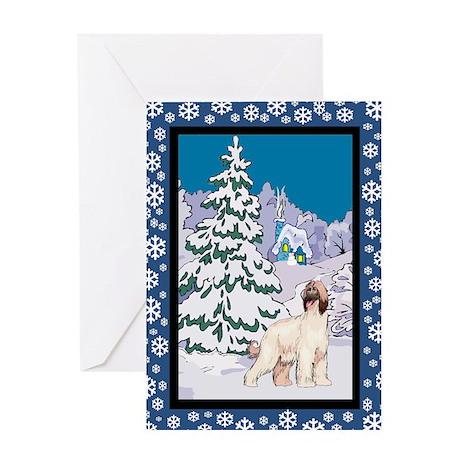 Winter Wonderland Afghan Hound Greeting Card
