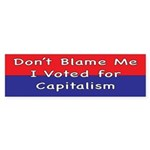 Voted for Capitalism Bumper Sticker