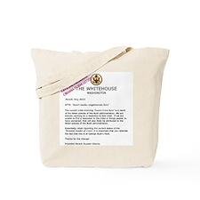Obama Form Letter Tote Bag