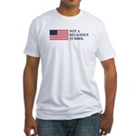 Flag: Not a Religious Symbol Fitted T-Shirt