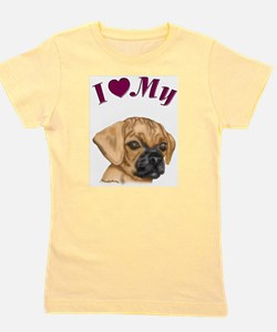 Heart Puggle Ash Grey T-Shirt