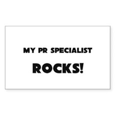 MY Pr Specialist ROCKS! Rectangle Decal