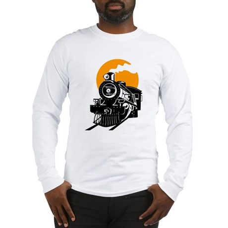 Steam Locomotive Train T-Shirt Long Sleeve T-Shirt