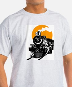 Steam Locomotive Train T-Shirt T-Shirt