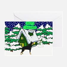 Country Doberman Christmas Greeting Card