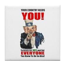 Uncle Sam Vote Tile Coaster