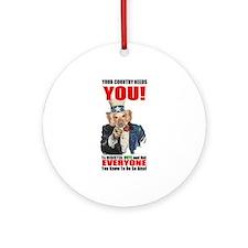 Uncle Sam Vote Ornament (Round)