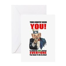 Uncle Sam Vote Greeting Card