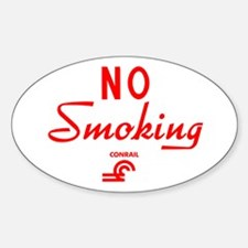 Conrail No Smoking Oval Decal